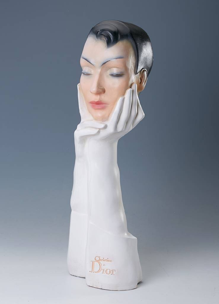 Decoration bust from CHRISTIAN DIOR approx. 1975