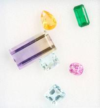 Lot 6 loose bevelled coloured stones