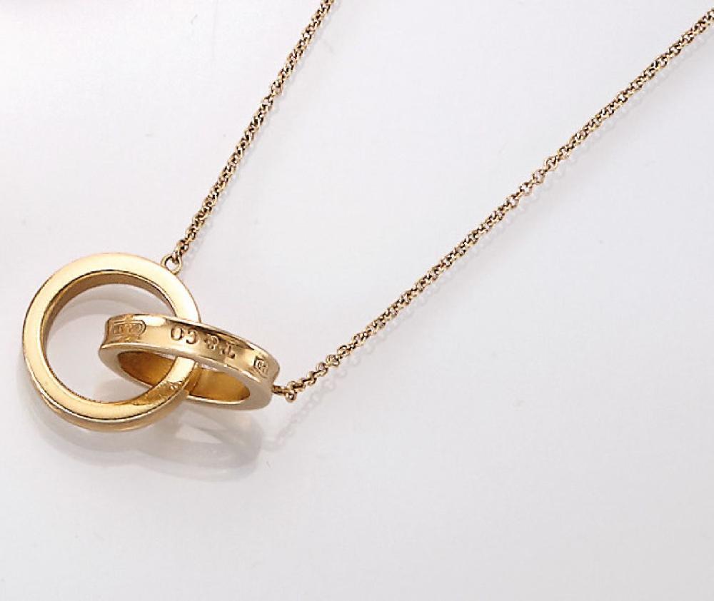 18 kt gold TIFFANY necklace, YG 750/000