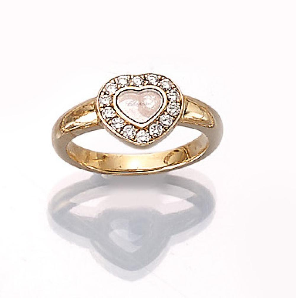 CHOPARD 18 kt gold ring with brilliants