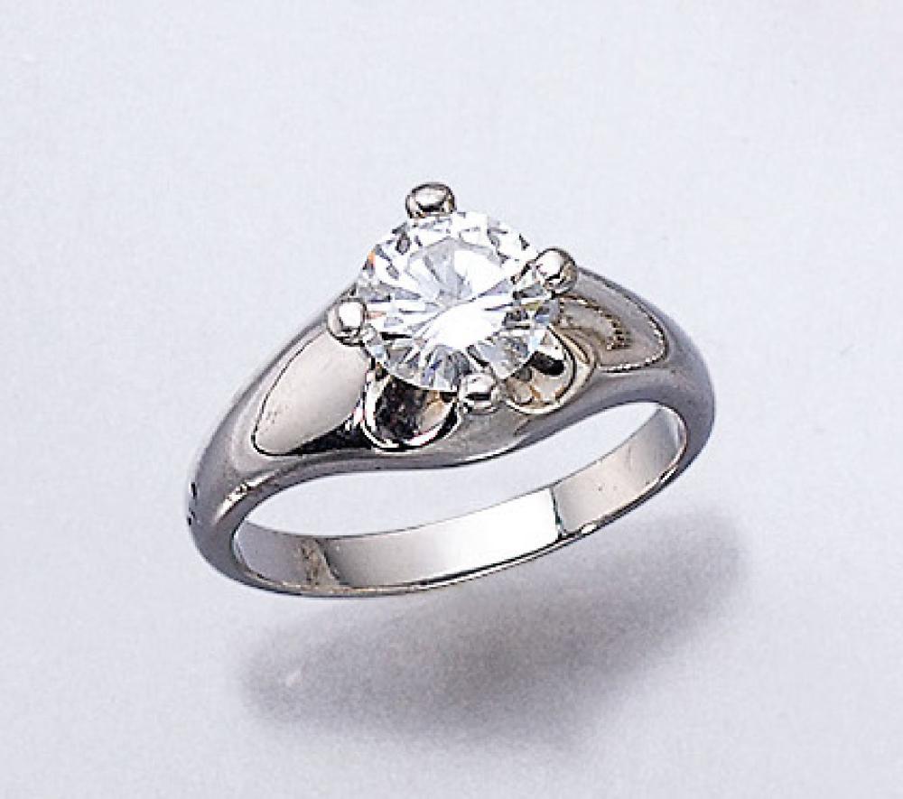 Platinum BULGARI ring with brilliant