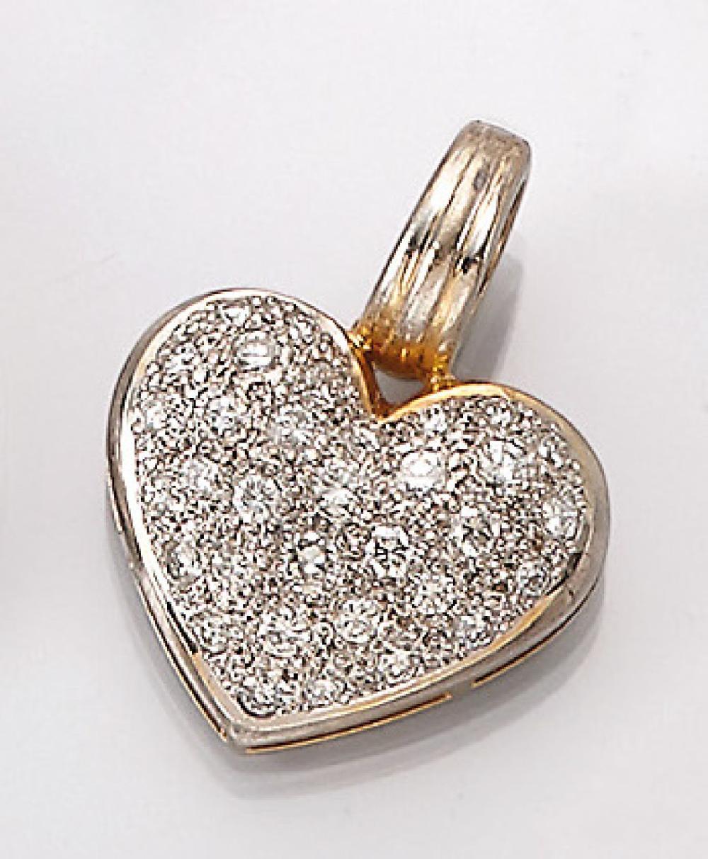 18 kt gold pendant 'heart'