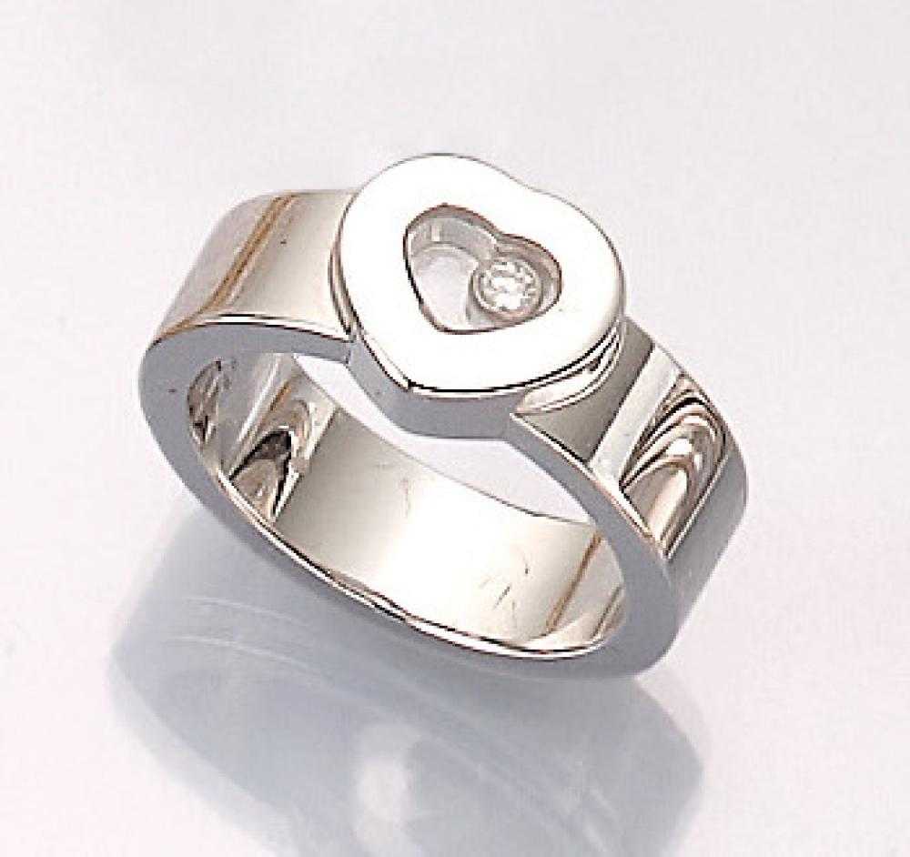 18 kt gold CHOPARD ring with brilliant