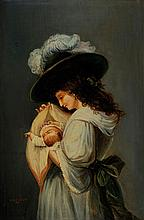 Emile Levy, 1826-1890, Mother and Child,
