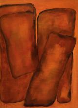 Lucien Sotto, Belgian artist, oil on masonite