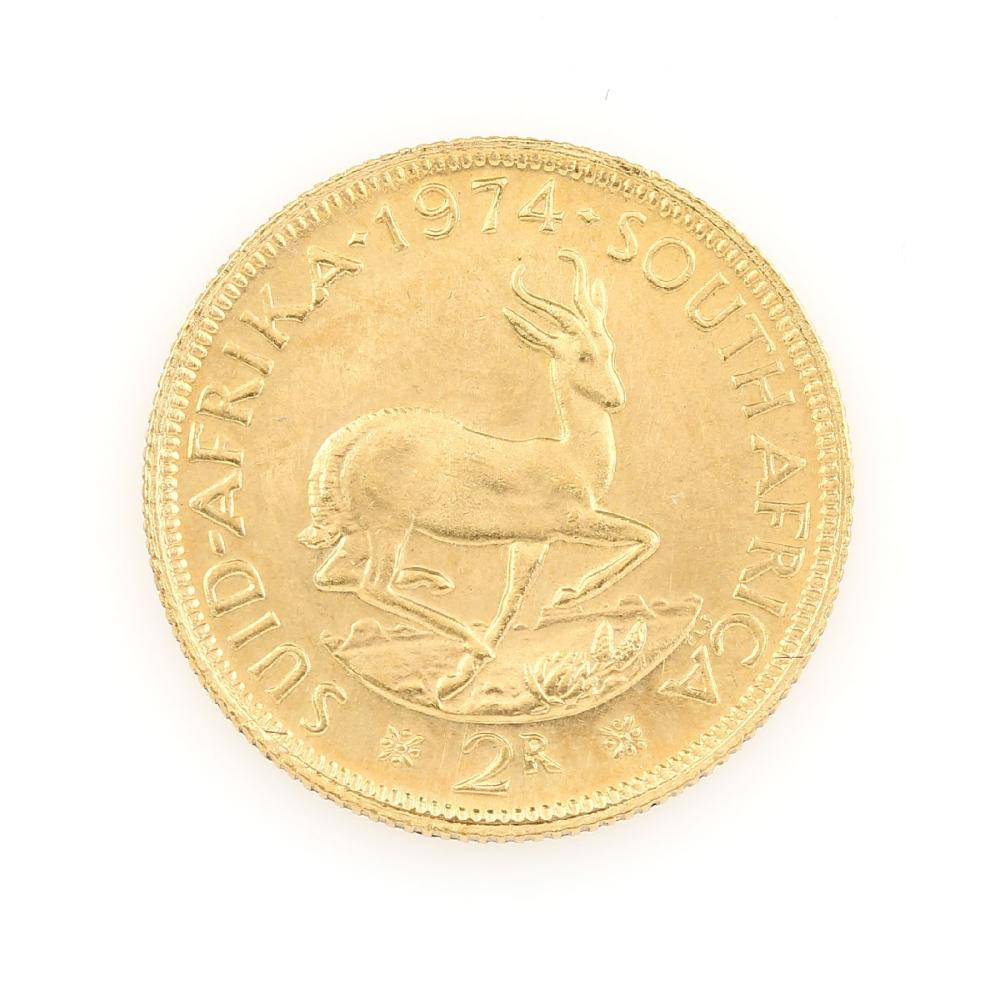 Gold coin, 2 Rand, South Africa