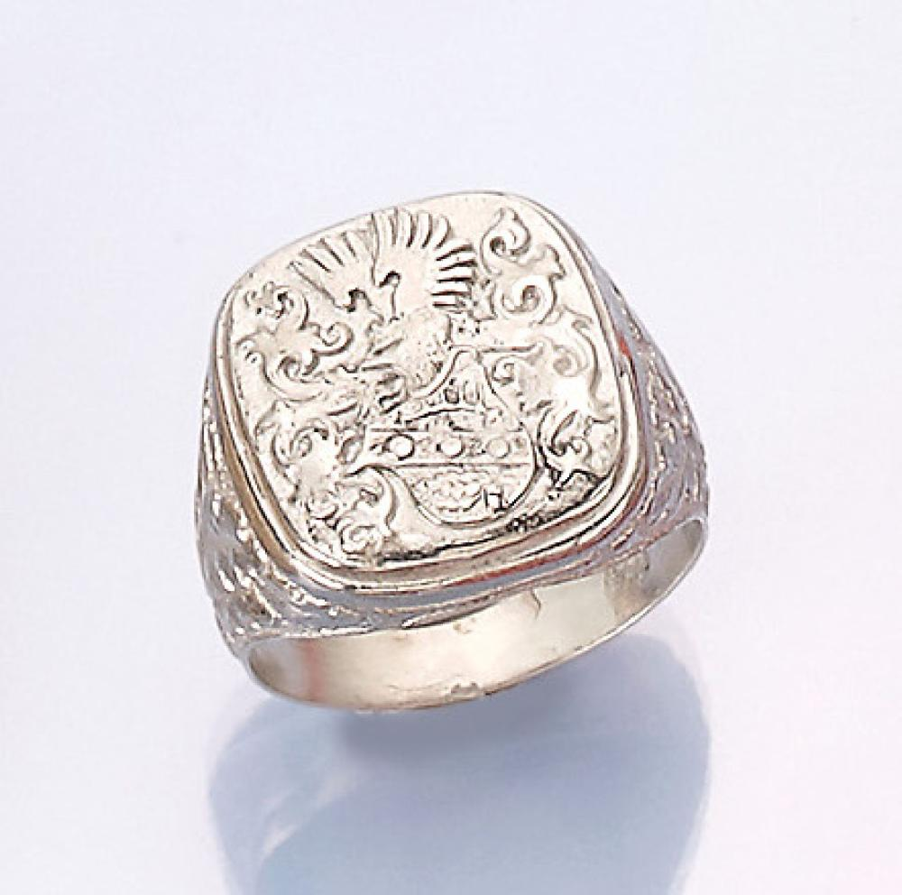 Gents signet ring, silver 925