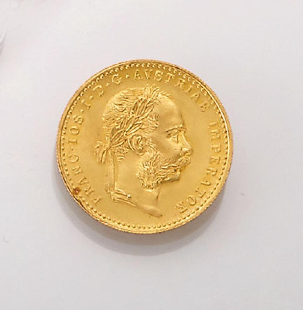 Gold coin, 1 ducat, Austria-Hungary