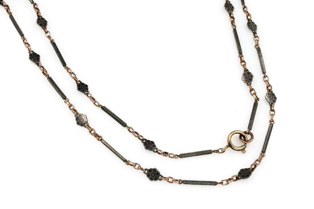 Lot 2 necklaces/watch chaines