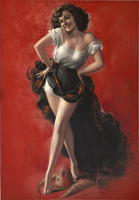 ROLF ARMSTRONG (American 1889 - 1960) Hat Dance