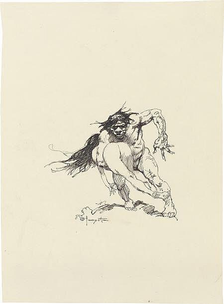 FRANK FRAZETTA (American b. 1928) Cave Man
