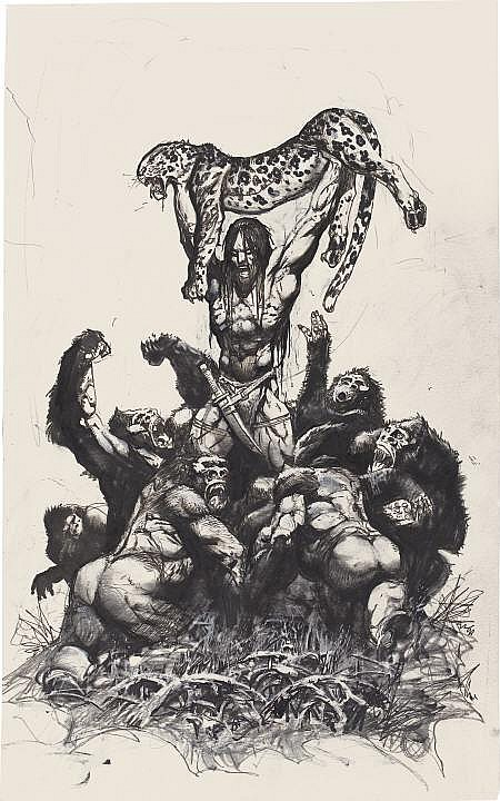SIMON BISLEY (English b. 1962) Tarzan Mixed-media