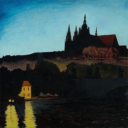 JOHN BOWMAN (American, b. 1953) Prague's Castle,