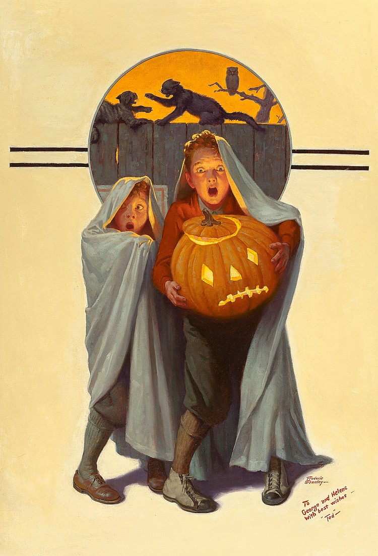 FREDERIC STANLEY (American, 1892-1967) Halloween Scare,