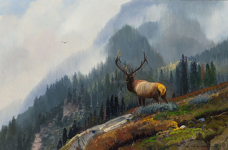 MICHAEL L. COLEMAN (American, b. 1941) Mountain Stag Oi