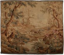 A Flemish Baroque-Style Tapestry with Hunting Scene, ci