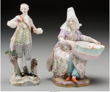 Two Meissen Painted Porcelain Figures, Meissen, Germany
