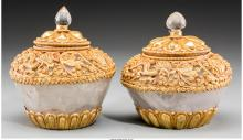 A Pair of Rock Crystal and Gilt Bronze-Mounted Covered