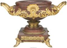 A Louis XVI-Style Rouge Marble and Gilt Bronze-Mounted