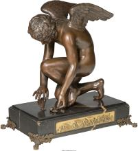 A French Bronze Figure of Cupid after Antoine-Denis Cha