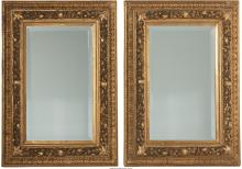 A Pair of French Carved Giltwood Mirror Frames, 19th ce