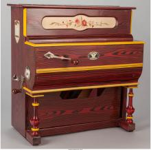 A Vicente Llinares Spanish Faventia Barrel Organ Music Box, 19th century 23 h x