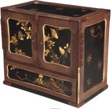 A Japanese Partial Gilt Lacquered Chest With Bronze Mounts, 20th century 20-1/2