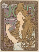 Alphonse Mucha (Czechoslovakian, 1860-1939) Job Cigarette Papers (from Les Maîtr