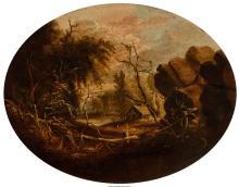 Charles Octavius Cole (American, 1814-1858) Portland, Maine, 1845 Oil on board 1