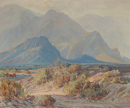 G. ALFRED (American, 20th century) Desert Colors, 1940
