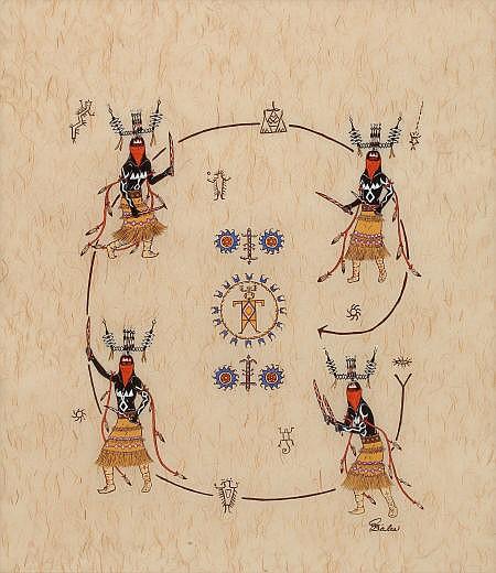 JEAN ELAINE MYERS BALES (American, 1946-2004) Apache Cr