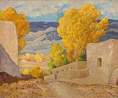 ORIN SHELDON PARSONS (American, 1866-1943) October, Alc