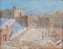 ORIN SHELDON PARSONS (American, 1866-1943) Adobe Vista