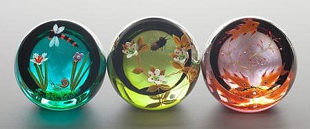 A GROUP OF THREE CAITHNESS CASED GLASS LIMITED EDITION