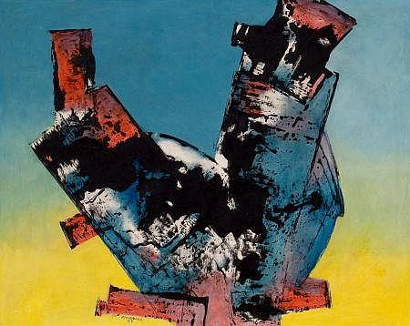 JULIAN MORALES (Cuban, 1936-1990) Untitled, 1987 Oil on