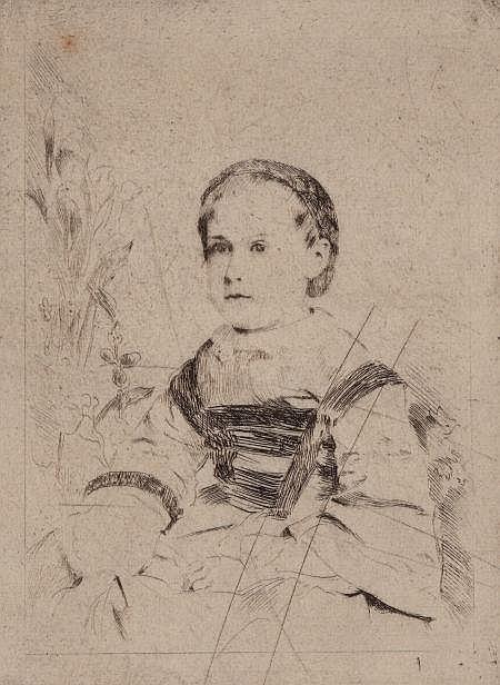EDGAR DEGAS (French, 1834-1917) Mlle. Nathalie Wolkonsk