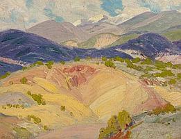 ORIN SHELDON PARSONS (American, 1866-1943) Taos Mountai