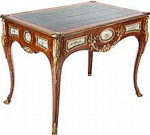 A LOUIS XV-STYLE KINGWOOD AND GILT BRONZE MOUNTED CENTE