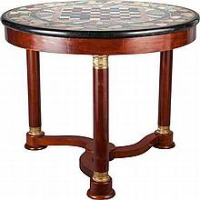 AN EMPIRE-STYLE MAHOGANY AND GILT BRONZE MOUNTED SPECIM