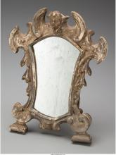 An Italian Baroque Silvered Wood Table Mirror, late 17th century in part 11-1/2