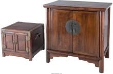 Two Chinese Hardwood Cabinets, 20th century 30 x 30-5/8