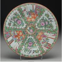 A Chinese Rose Medallion Porcelain Charger, early 20th