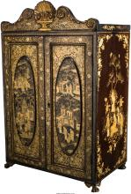 A Chinese Export Lacquered Wood Chest, 20th century 28-