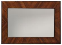 A Mahogany and Pine Framed Mirror, 20th century 57 inches high x 36-1/4 inches w