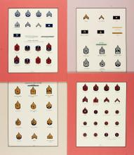 Group of Approximately Seventy-Five Costume Illustrations. Circa 1870. Various s
