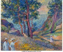 Lucien Neuquelman (French, 1909-1988) Ile de Brehat Oil on canvas 15 x 18 inches