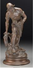 Albert Froger (French, 19th Century) Sauveteur Bronze w