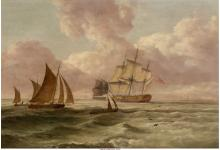 British School (19th Century) Through the Shipping Lane