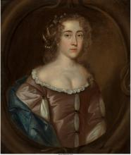 British School  Portrait of Lady at half-length in lave