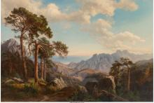 Carl Maria Nicolaus Hummel (German, 1821-1907) Mountain